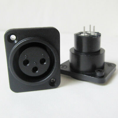 1x XLR 3-Pole Panel Mount Female Jack Chassis Connector
