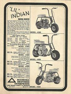 WOW-Vintage-amp-Rare-1960-039-s-Lil-Indian-Mini-Bike-Ad
