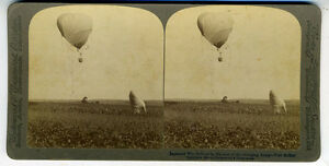 1905-Stereo-Card-Japanese-Spy-Balloon-Russian-Japanese-War-1