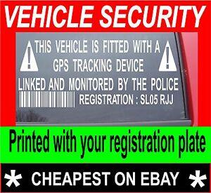 2X-VEHICLE-CAR-VAN-SECURITY-GPS-TRACKER-ALARM-STICKERS