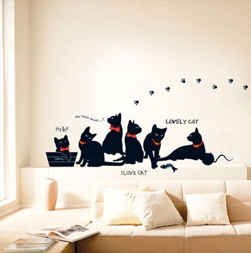 Cats Wall Stickers Mural Art Decal Room Decor