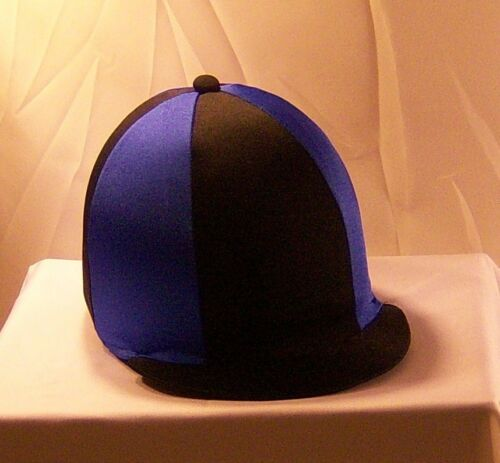 Chapeau Équitation Housse-Noir /& Bleu Royal
