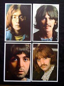 THE-BEATLES-White-Album-Set-of-4-Photo-1968