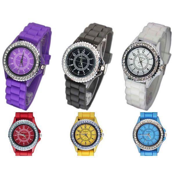 Classic Gel Silicone Crystal Men Lady Jelly Watch Gifts Stylish Fashion Luxury