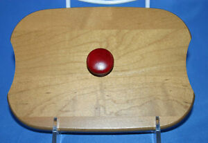 Longaberger 2009 Holiday Helper Woodcrafts Lid Red Knob
