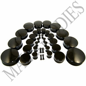 V019-Acrylic-Double-Flare-Black-Solid-Saddle-Ear-Plugs-Earlets-10G-to-2-034-inch-50