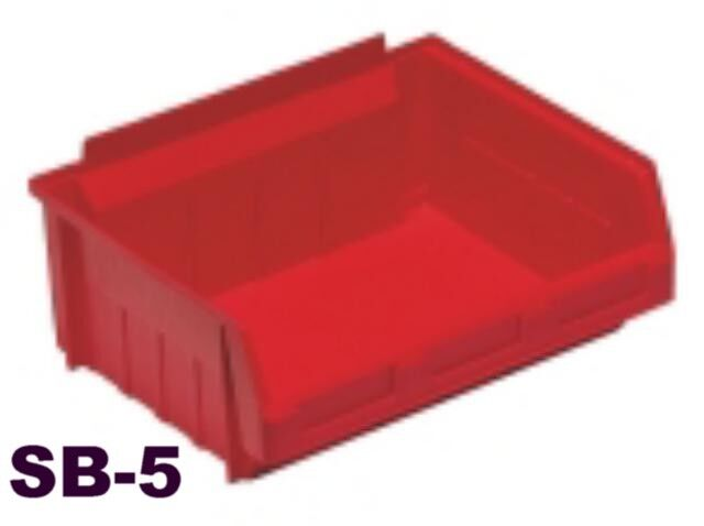 RED PLASTIC STACKING PARTS STORAGE BINS** 7 SIZES**  INDUSTRIAL QUALITY