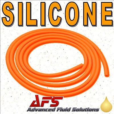 "6mm I.D ORANGE Silicone Vacuum Tubing Silicon Vac Hose Air Pipe 1/4"" Tube 1 Mtr"