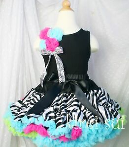 Rainbow-Zebra-Pettiskirt-Christmas-Birthday-Party-Tutu-Skirt-1-7Y-WC9