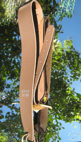 Blue Bud Standard Leder Gitarrengurt Guitar Strap 6 cm