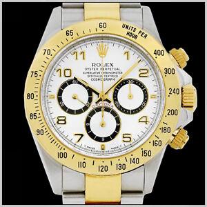ROLEX-MEN-039-S-TWO-TONE-DAYTONA-COSMOGRAPH-WHITE-DIAL-WATCH