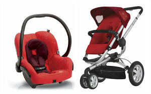Quinny-Buzz-3-Travel-System-Baby-Stroller-Mico-Infant-Car-Seat-RED-NEW