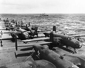 B Amp B Portmeirion Details about B&W WWII Photo Doolittle B-25 USS Hornet WW 2
