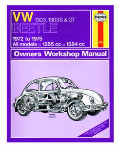Haynes-1972-1975-VW-T1-Beetle-Workshop-Manual-1303-1303s-GT-1600-Super-Bug-Late