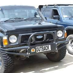 XROX COMP STYLE BULL BAR TO SUIT NISSAN PATROL GQ - WINCH STEEL TUBE BAR