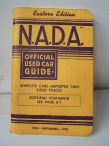 Nada Used Car Guide >> OLD VINTAGE 1982 82 NADA OFFICIAL USED CAR GUIDE PRICE BOOK | eBay