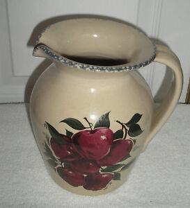Home And Garden Party Apple Belly Pitcher 1 2 Gallon Ebay