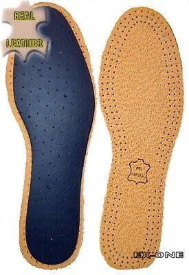 Para Hombre Cuero plantillas / shoes/boots/pain relief/free odour/100% Cuero Genuino