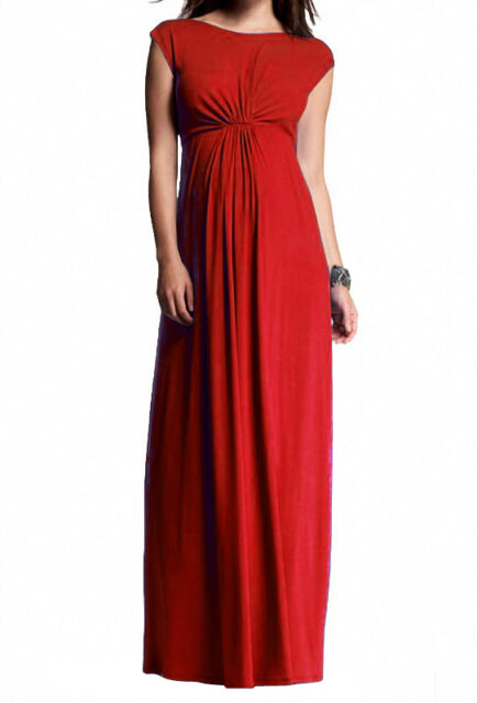 Women's Maternity Pregnant formal elegant evening cocktail maxi party dress