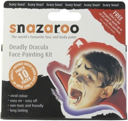 HALLOWEEN FACE PAINT PAINTING KIT FANCY DRESS MAKE UP WITCH VAMPIRE SKELETON NEW
