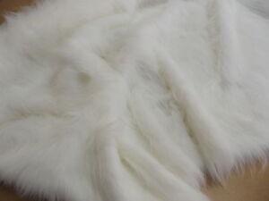 LONG-Pile-Faux-Fur-Fabric-BRIGHT-WHITE-All-Sizes-Bulk-Discounts-FREE-POST