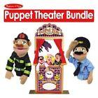 Melissa and Doug Melissa Doug 2530 Deluxe Puppet Theater with Melissa Doug 2551 Police Officer Puppet Melissa Doug 2552 Firefighter Puppet Bundle