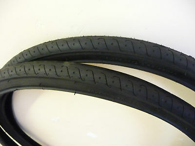 PAIR OF MOUNTAIN BIKE CYCLE TYRES 26 X 1.5 BLACK SLICK