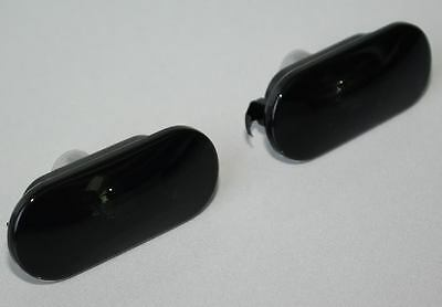 VW JETTA GOLF MK4 DARK SMOKE SMOKED FENDER SIDE MARKER LIGHT LIGHTS PAIR GTi GLi