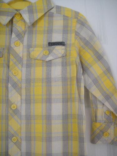Dkny Nuevo Con Etiquetas Chicos Top Dress de Superdry con botones de cuadros 18 2t 3 4