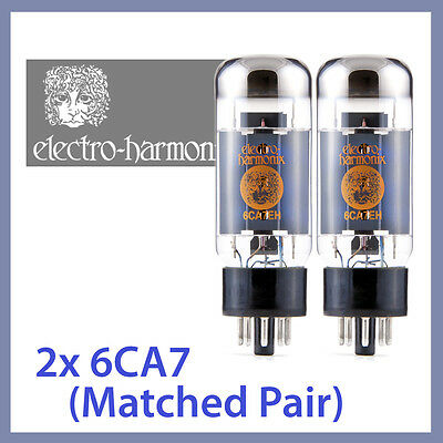 2x NEW Electro Harmonix 6CA7 EH Vacuum Tubes, Matched Pair TESTED (Big Bottle)