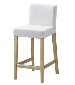 Ikea Henriksdal Bar Stool Slipcover Chair Cover White Ebay