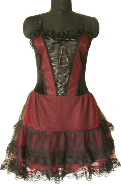 Corset Gothic Vampire Black Victorian Cocktail Prom Party Mini Dress Girl 1528