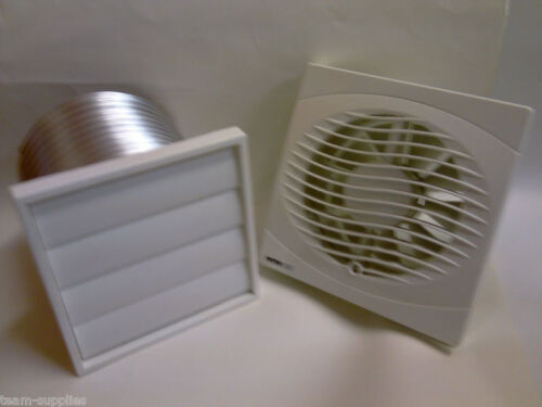 """MANROSE 6"""" 150MM KITCHEN EXTRACTOR FAN OPTIONAL VENT GRILL KIT"""