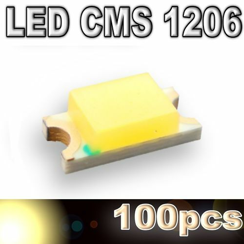 111/100# LED CMS 1206 blanc chaud -- 500mcd -- 100pcs