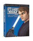 Star Wars: The Clone Wars - The Complete Season Three (DVD, 2011, 4-Disc Set)