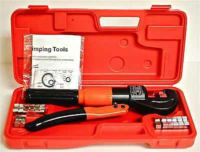 Hydraulic Crimping Tool Kit 8 Ton Electric Wire Crimper