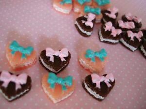 20-Heart-Shape-Cream-Pie-Cake-Resin-Miniature-pink-B153