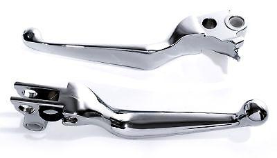 Bremshebel Kupplung Handhebel Chrom für Harley 96-2010 Evo Twin Cam XL Sportster