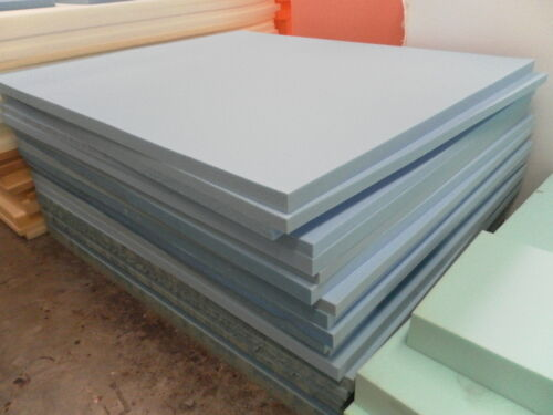 "1 foam sheet 80"" x 48"" x 4"" blue upholstery supplies"