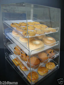 Acrylic-Pastry-Bakery-Donut-CUPCAKE-Stand-Display-Case-with-4-trays