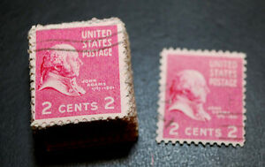 Image Is Loading US Used 2 Cent John Adams 100 Stamps