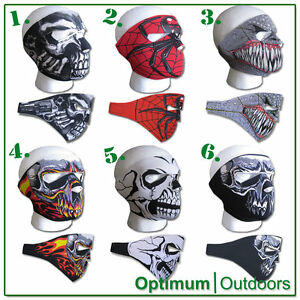 Neoprene Full Face Reversible Scary Mask Quad Bike Cycling Airsoft
