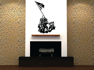 Raising the Flag on Iwo Jima Huge Wall Vinyl Decal,usmc Marine Corps world war 2