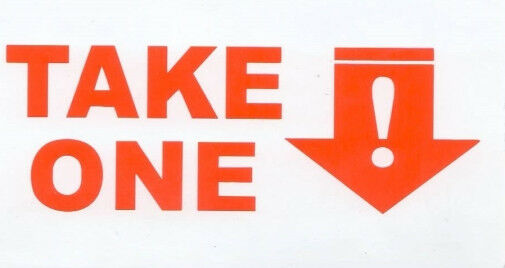 4 Outdoor Sticker TAKE ONE for Vehicle Card Holder Cars