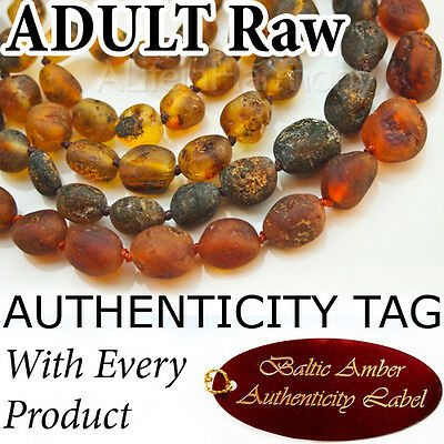 RAW BALTIC AMBER ADULT NECKLACE (Oval Beads) - AGbA® Certified - Maximum Effect