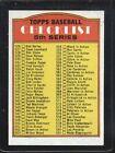 1972 Topps Checklist #478 Baseball Card