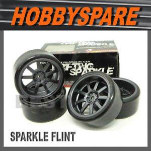 4-x-SPARKLE-1-10-RC-DRIFT-WHEEL-FLINT-SPARK-5mm-OFFSET
