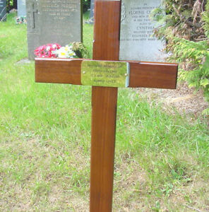 Details About Memorial Wooden Cross Grave Marker 36 Free Plaque Free Engraving