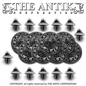 Concho-Box-CELTIC-CICLE-SPIKE-Rivet-Belt-Leather-Crafts