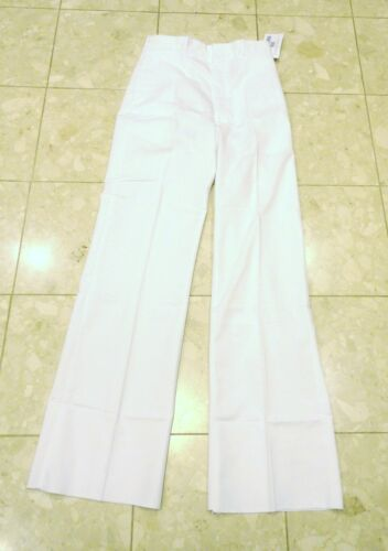 - NEW IN PACKAGE UNHEMMED 31L X 35 NAVY MEN/'S DRESS WHITE POLY//COTTON PANTS